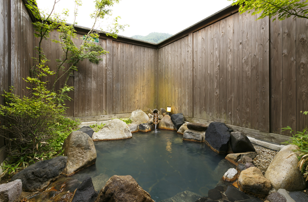 穂高荘 山がの湯 岩盤浴付き貸切露天風呂