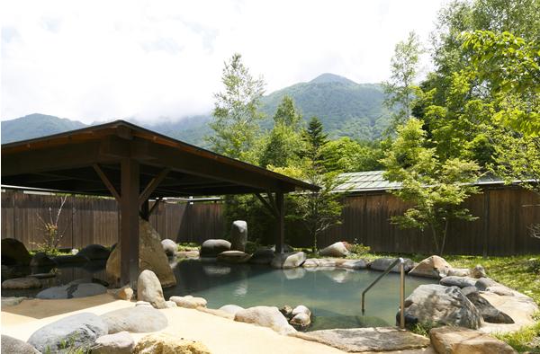 穂高荘 山がの湯 露天風呂