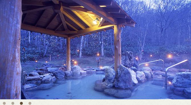 小樽朝里クラッセホテルの露天風呂の写真