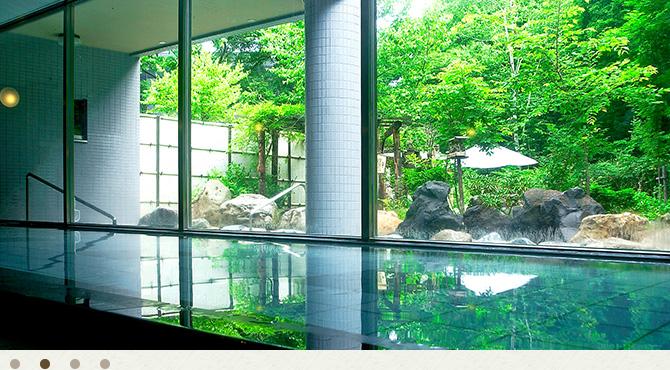 小樽朝里クラッセホテルの湯船の写真