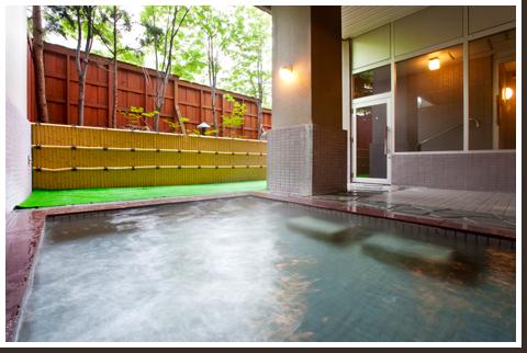 北海道 小樽朝里川温泉 ホテル武蔵亭 露天風呂の写真