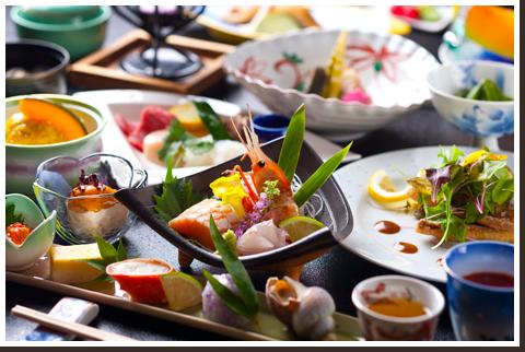 北海道 小樽朝里川温泉 ホテル武蔵亭 料理の写真