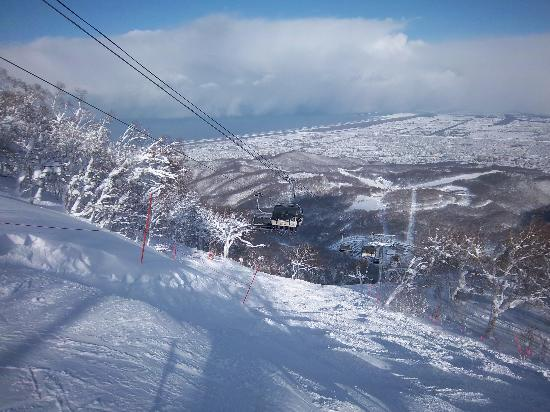手稲山のスキー場の写真