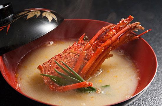 伊勢海老の味噌汁