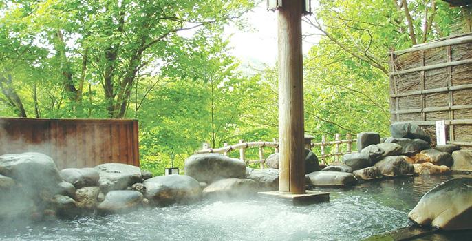定山渓温泉章月グランドホテル 露天風呂の写真