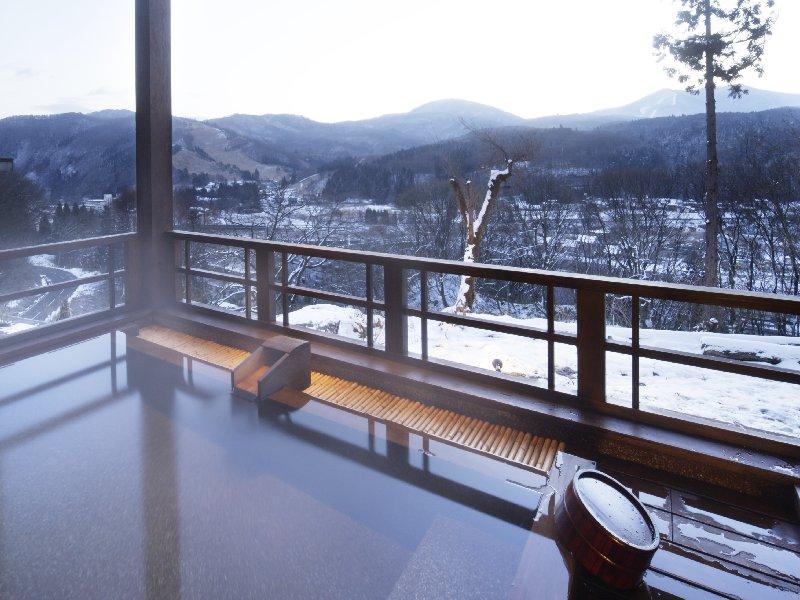 妙高・山里の湯宿 香風館 露天風呂