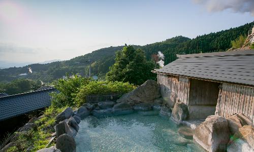 熊本 はげの湯温泉 旅館山翠 露天風呂の写真