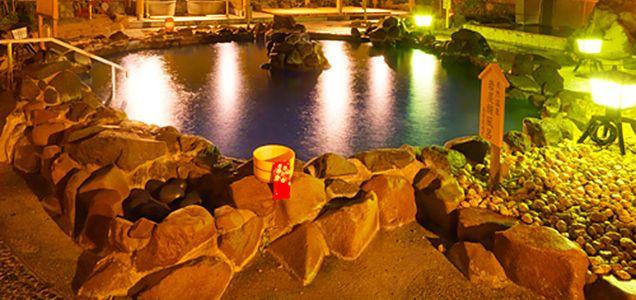 宮城 大江戸温泉物語仙台コロナの湯 露天風呂の写真