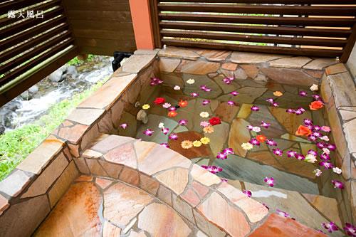 那須 ホテル ローズウッド 露天風呂の写真