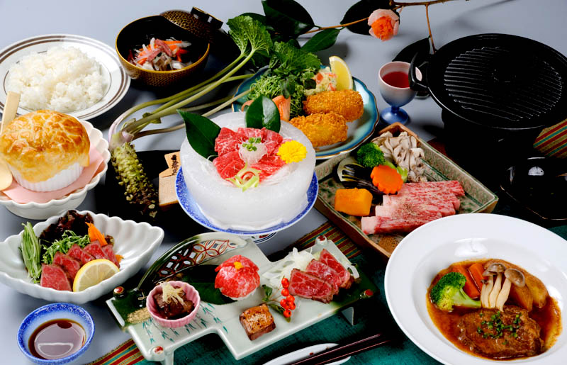 那須 梅川荘 食事の写真