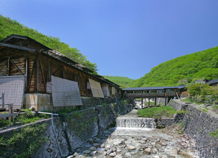 那須湯本温泉 鹿の湯 自然の写真