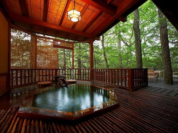 那須高原の宿 山水閣 露天風呂の写真