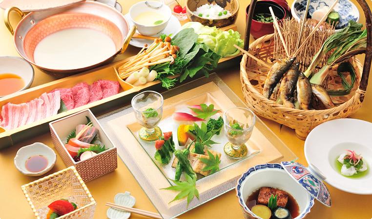 那須高原の宿 山水閣 料理の写真