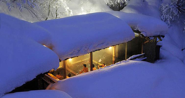 新潟 ひなの宿 ちとせ 雪見露天風呂の写真
