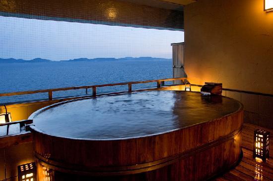 西浦温泉銀波荘 貸切露天風呂の写真