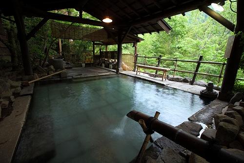 山荘天水 露天風呂