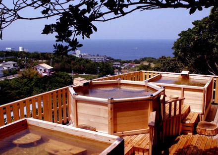 白浜温泉公園 草原の湯 露天風呂の写真