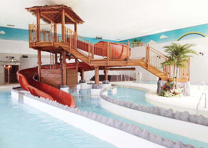 スパリゾートリブマックス 日帰り温泉いやしの湯「森の泉」 室内プールの写真
