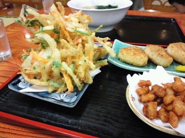 山梨 道志川温泉 紅椿の湯 定食の写真