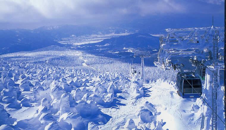 蔵王温泉スキー場 風景