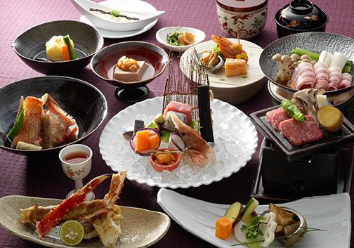 北海道 あかん遊久の里 鶴雅 料理の写真
