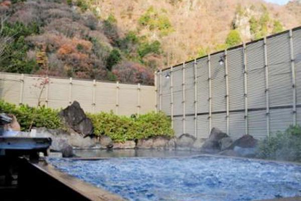 茨城 滝味の宿 豊年万作 露天風呂の写真