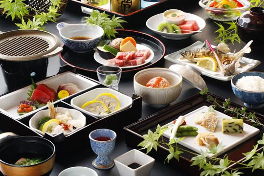 熊本 蘇山郷 夕食の写真