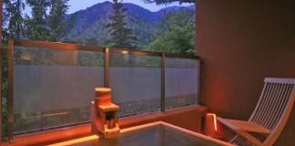 日光 ゆの森 客室露天風呂の写真