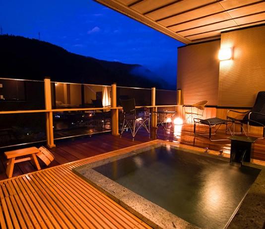 大分 浮羽別館 新紫陽 露天風呂の写真
