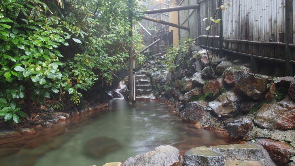 大丸温泉旅館-あじさいの湯へ