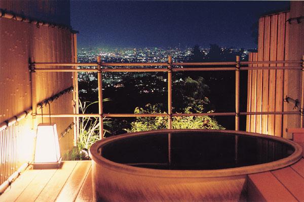 大阪 みのお山荘 風の杜 貸切露天風呂の写真