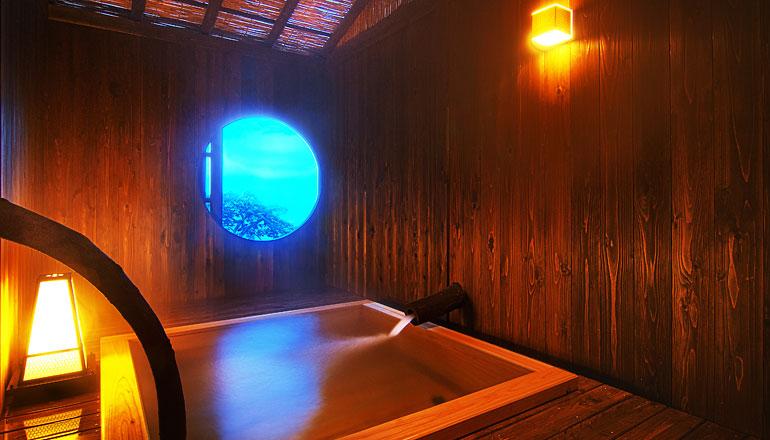 静岡 熱川温泉一柳閣 貸切露天風呂の写真