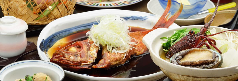 静岡 熱川温泉一柳閣 料理の写真