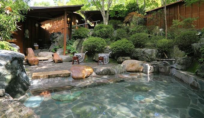 埼玉県 小さなホテルセラヴィ 大露天風呂の写真