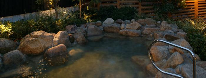 天然温泉 月の湯舟 朔の湯