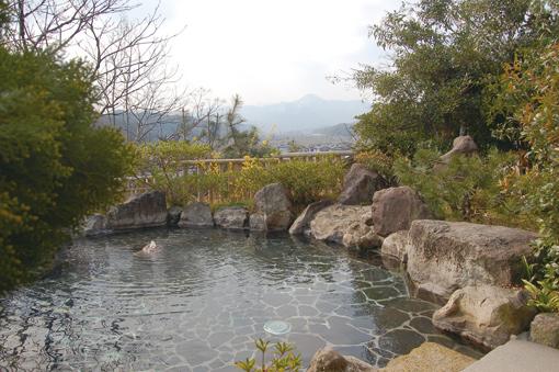 鳥取 浜村温泉館 気多の湯 露天風呂の写真