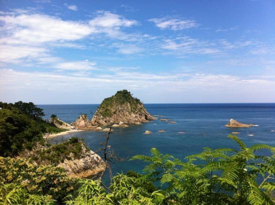 鳥取 岩井ゆかむり温泉共同浴場 海の写真