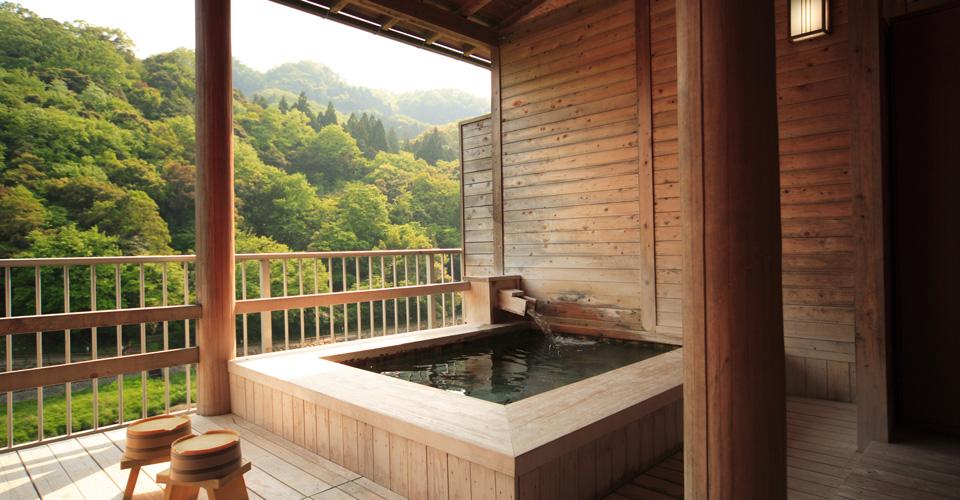 鳥取 三朝温泉 清流荘 貸切風呂の写真