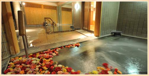 鳥取 山陰・はわい温泉 望湖楼 バラ風呂の写真