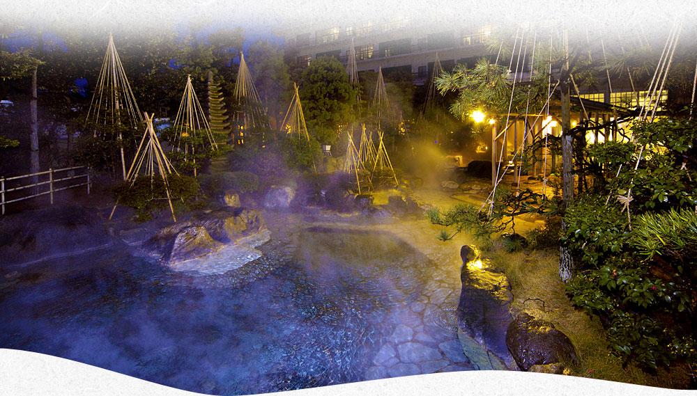 美しい庭園露天風呂