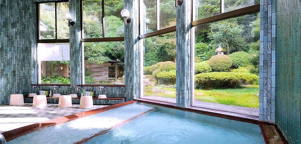 兵庫 城崎温泉 ゆとうや旅館 男性浴室の写真