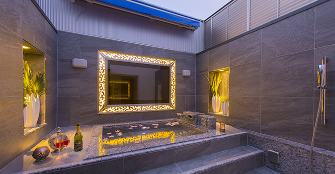 ラブホテル  RAMESE RESORT 西蒲田 空が見える露天風呂