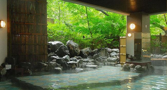 仙台 秋保グランドホテル 露天風呂の写真