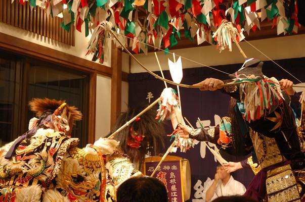 島根 御前湯 石見神楽の写真