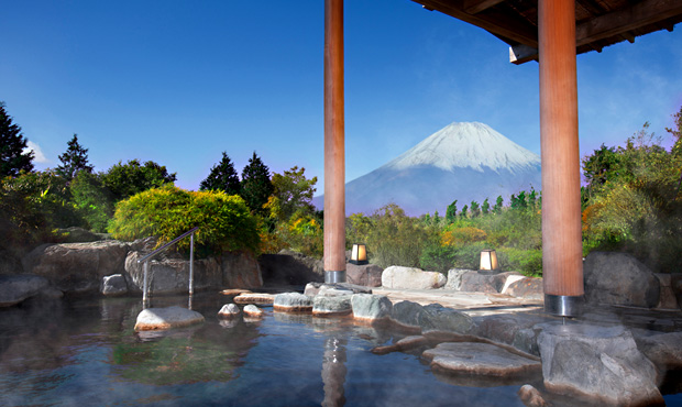 富士山の見える露天風呂1