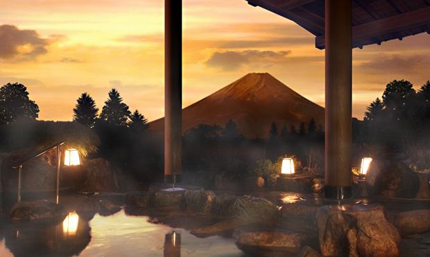 富士山の見える露天風呂2