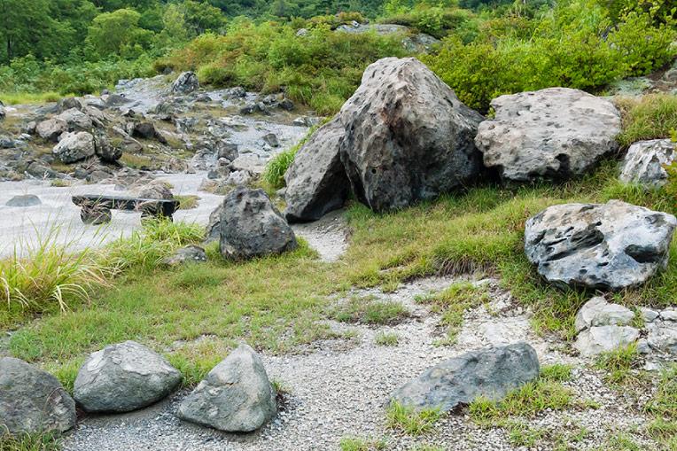玉川温泉 北投石