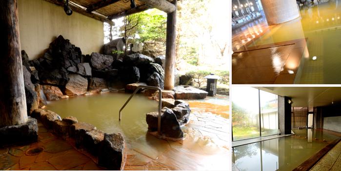 洞爺湖万世閣 月の湯 露天風呂と内湯