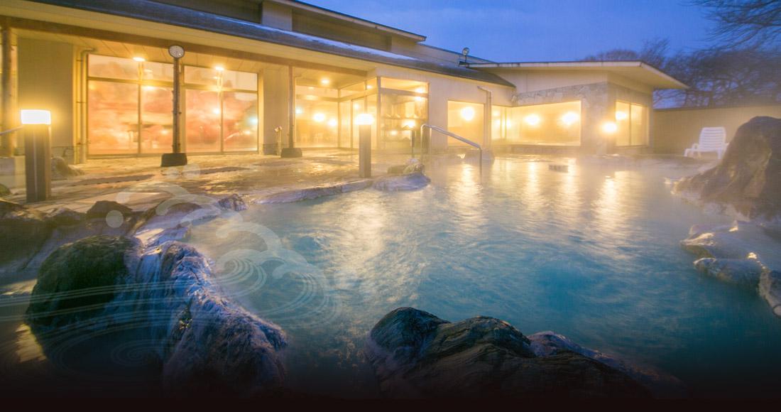 幻想的な浴場の写真