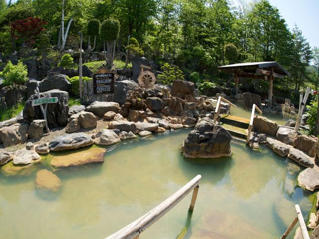 豊平峡温泉の露天風呂の写真